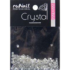 ruNail, Стразы прозрачные (1,5 мм), 288 шт