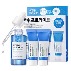 Сет с гиалуроновой кислотой NATURE REPUBLIC Hyalon Active 10 Blue Capsule Serum Special Set