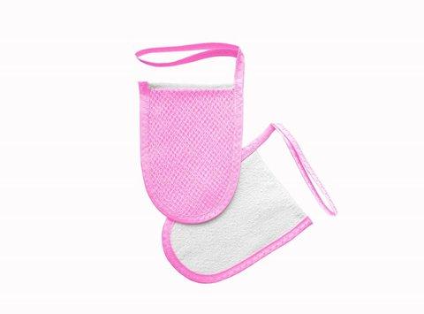 Мини-варежка для лица и декольте Розовый (Шелковица)