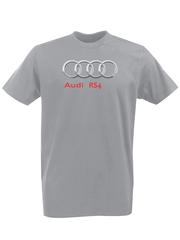 Футболка с принтом Ауди RS4 (Audi RS4) серая 0011