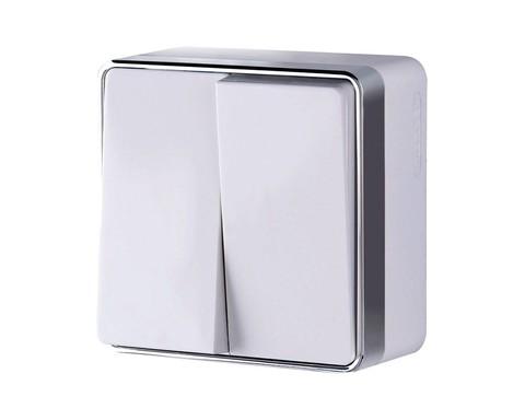 Выключатель Werkel WL15-03-01 белый (2-кл)