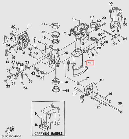 Корпус дейдвуда  для лодочного мотора T3S SEA-PRO (15-1)