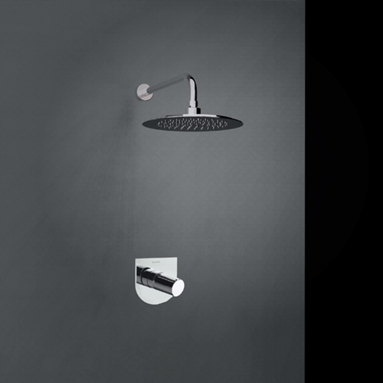 Встраиваемый смеситель для душа с душевым комплектом TZAR K3418012NC никель, на 1 выход