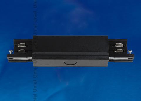 UBX-A12 BLACK 1 POLYBAG Соединитель для шинопроводов прямой внешний. Трехфазный. Цвет — черный. Упаковка — полиэтиленовый пакет.