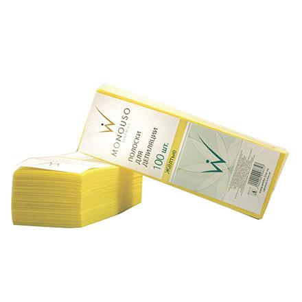 Полоски для депиляции Italwax, Полоски для депиляции, желтые, 7х20 см, 100 шт. Italwax__Полоски_для_депиляции__желтые__7х20_см__1_упаковка.jpg