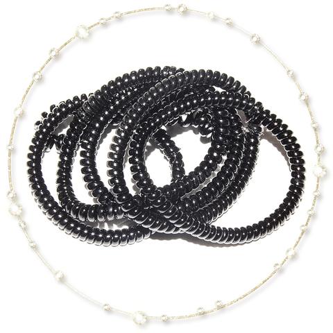 Набор резинок для волос (черный)