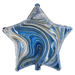 Воздушный шар Звезда - Агат (Голубая)