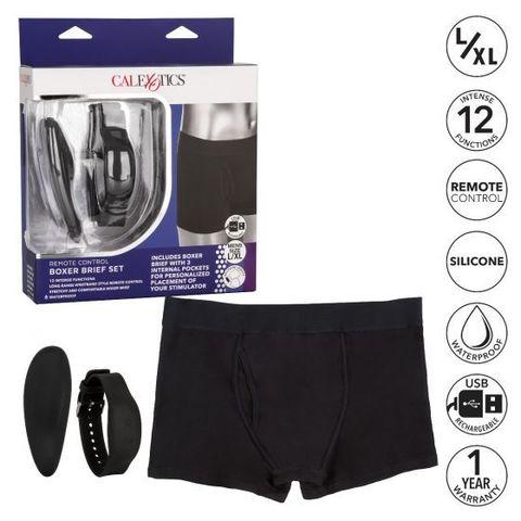 Трусы боксеры с вибромассажером Remote Control Panty Set  L/XL