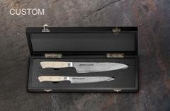 Набор из 2 кухонных дамасских ножей
