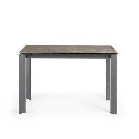 Стол Atta 120 (180) x80 антрацит керамика