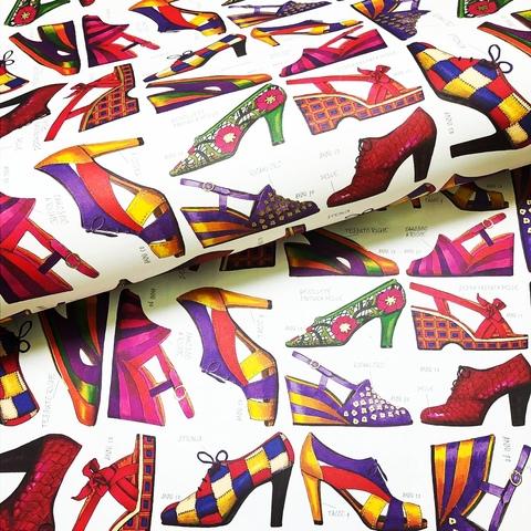 Бумага декоративная подарочная Винтажная обувь
