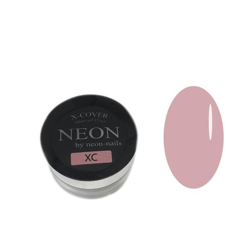 NEON, Builder Gel X-COVER , 15 ml розовый однофазный гель для ремонта и наращивания ногтей