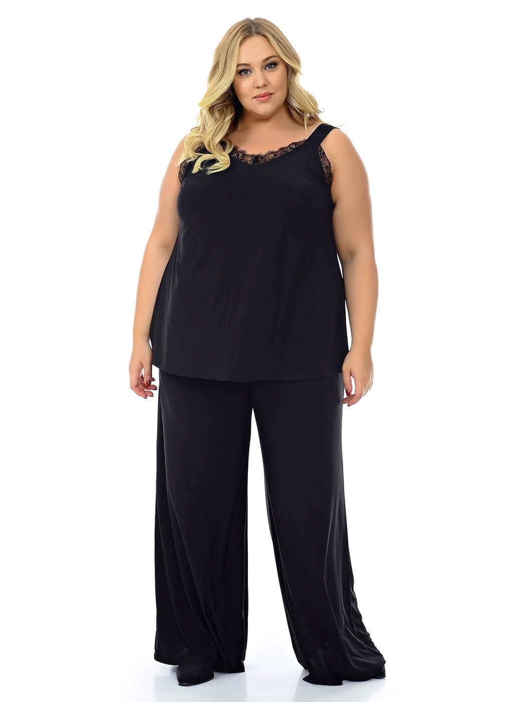 Большие размеры очень широких брюк женских