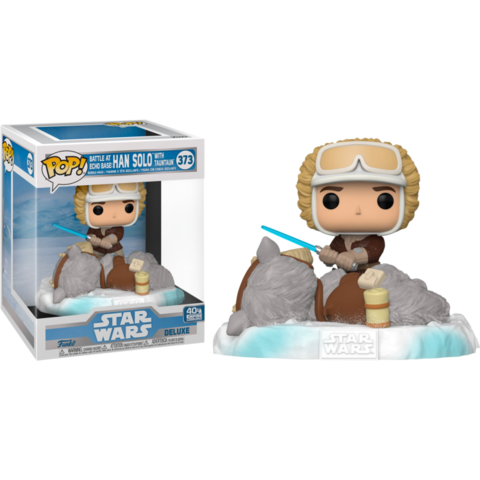 Фигурка Funko Pop! Deluxe: Star Wars Episode V: The Empire Strikes Back - Han Solo with Tauntaun Battle at Echo Base (Excl. to Amazon)