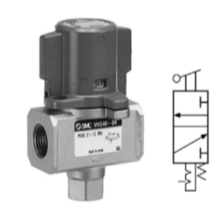 VHS40-F04A-B  3/2-Ручной запорный клапан, G1/2