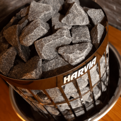 HARVIA Электрическая печь Cilindro HPC900400M PC90 со встроенным пультом черная