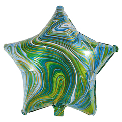 Воздушный шар Звезда - Агат (Зеленая)