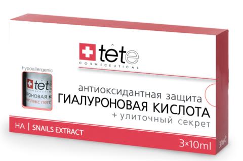 Гиалуроновая кислота + Улиточный секрет/ TETe Hyaluronic Acid + Snail Extract 3*10 ml