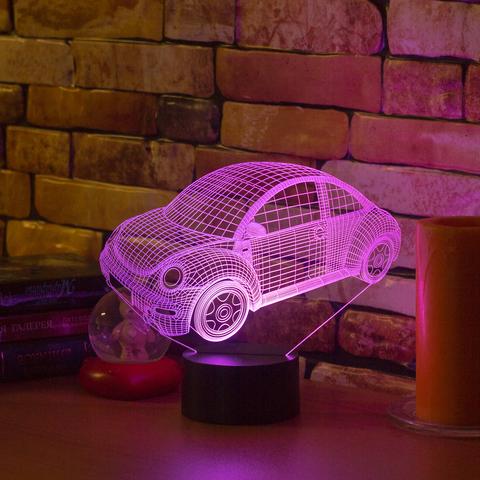 3D светильник Volkswagen Beetle 2010