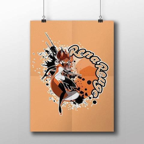 Плакат с Реной Руж
