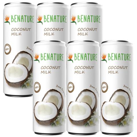Молоко кокосовое 6 шт по 250мл Benature ж/б