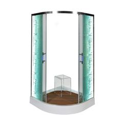 Душевой уголок DETO С 01 LED 100х100 см с подсветкой