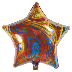 Воздушный шар Звезда - Агат (Красная)