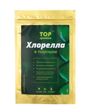 Хлорелла 100% organic в порошке, пакет 100 г