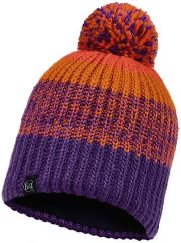 Шапка вязаная с флисом детская Buff Hat Knitted Polar Sibylla Purple фото 1