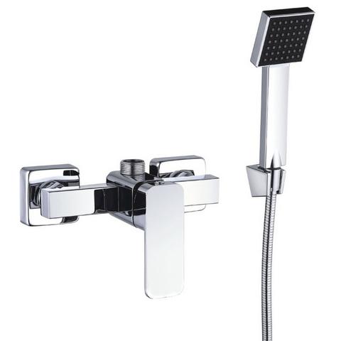 Квадратный смеситель для душа однорычажный Zegor LEB5-A123 с душевой лейкой