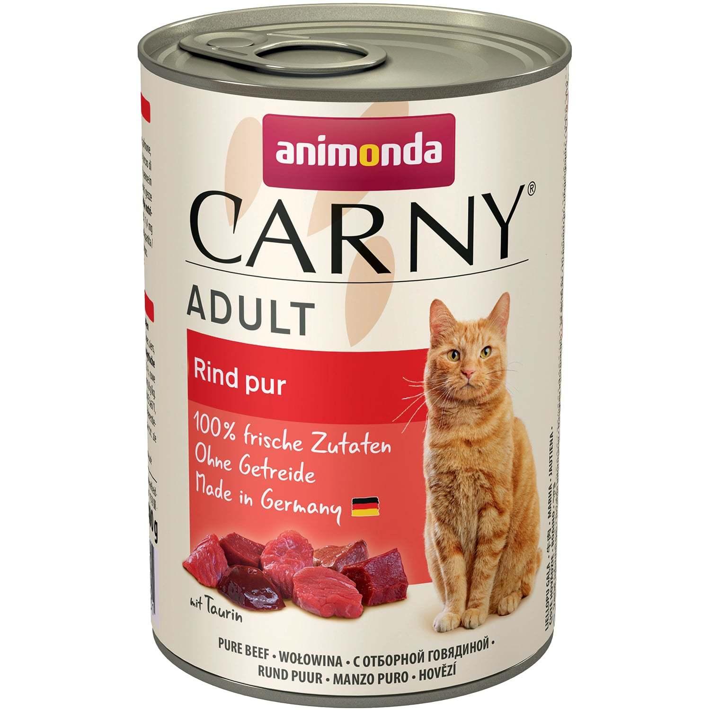 Консервы Animonda CARNY Adult Beef с говядиной для кошек