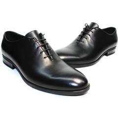 Туфли под темно синий костюм Ikos 006-1 Black