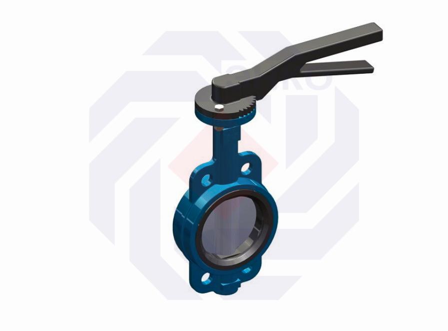Затвор дисковый поворотный T.i.S. D104 DN 150