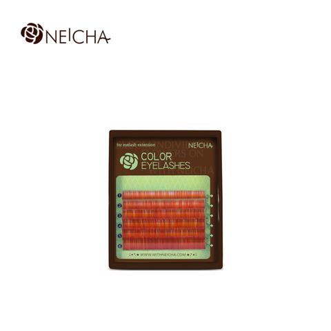 Ресницы NEICHA нейша колорированные 6 линий MIX Red