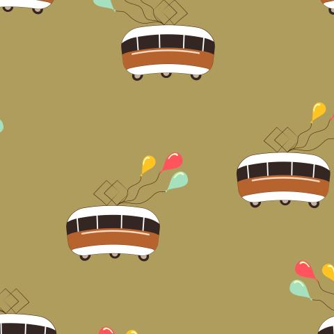 Забавный паттерн с трамваями и шариками