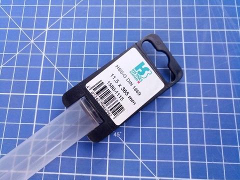 Сверло по металлу удлиненное ц/x 11,5x365/250мм DIN1869 h8 15xD HSS-G 135° HSS-Tools 1580-1115