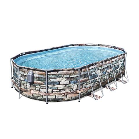 Каркасный бассейн Bestway 56719 (610х366х122 см) с картриджным фильтром и лестницей / 22705