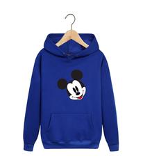 Толстовка синяя с капюшоном (худи, кенгуру) и принтом Микки Маус (Mickey Mouse) 002