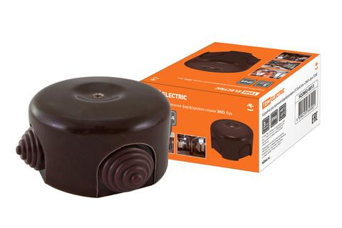 Коробка распаячная фарфоровая D7,8х4,5см «ЭКО» бук TDM