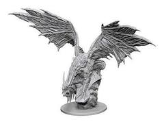 Pathfinder Deep Cuts Unpainted Miniatures - Silver Dragon