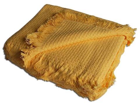 Хлопоковое покрывало In Design 160х230, желтое
