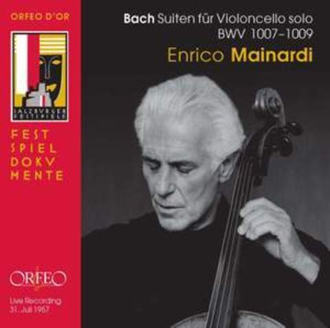 JS Bach Cello Suites Nos. 1 - 3 /  Enrico Mainardi