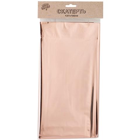 Скатерть фольг розовое золото 137х182смG