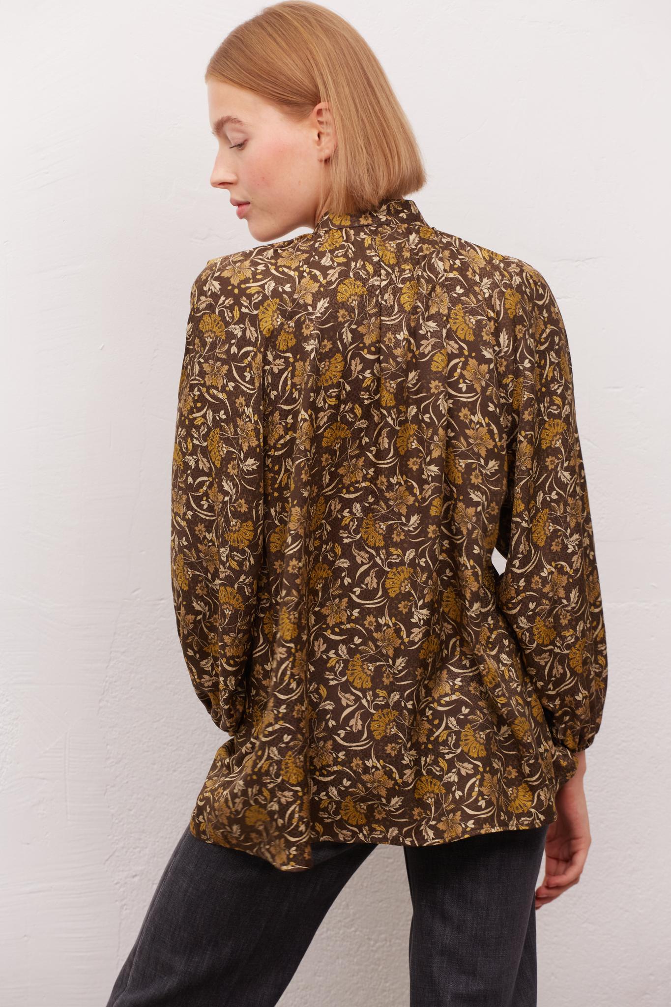 CLOANE - Струящаяся блуза с цветочным принтом