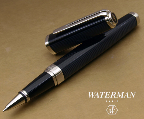 Ручка-роллер Waterman Exception, цвет: Slim Black ST, стержень: Fblk (TF)123