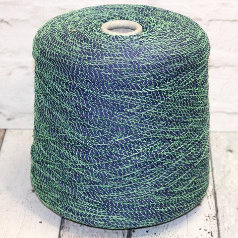 Ленточный хлопок FASHION MILL / FLUO 200 сине-зеленый