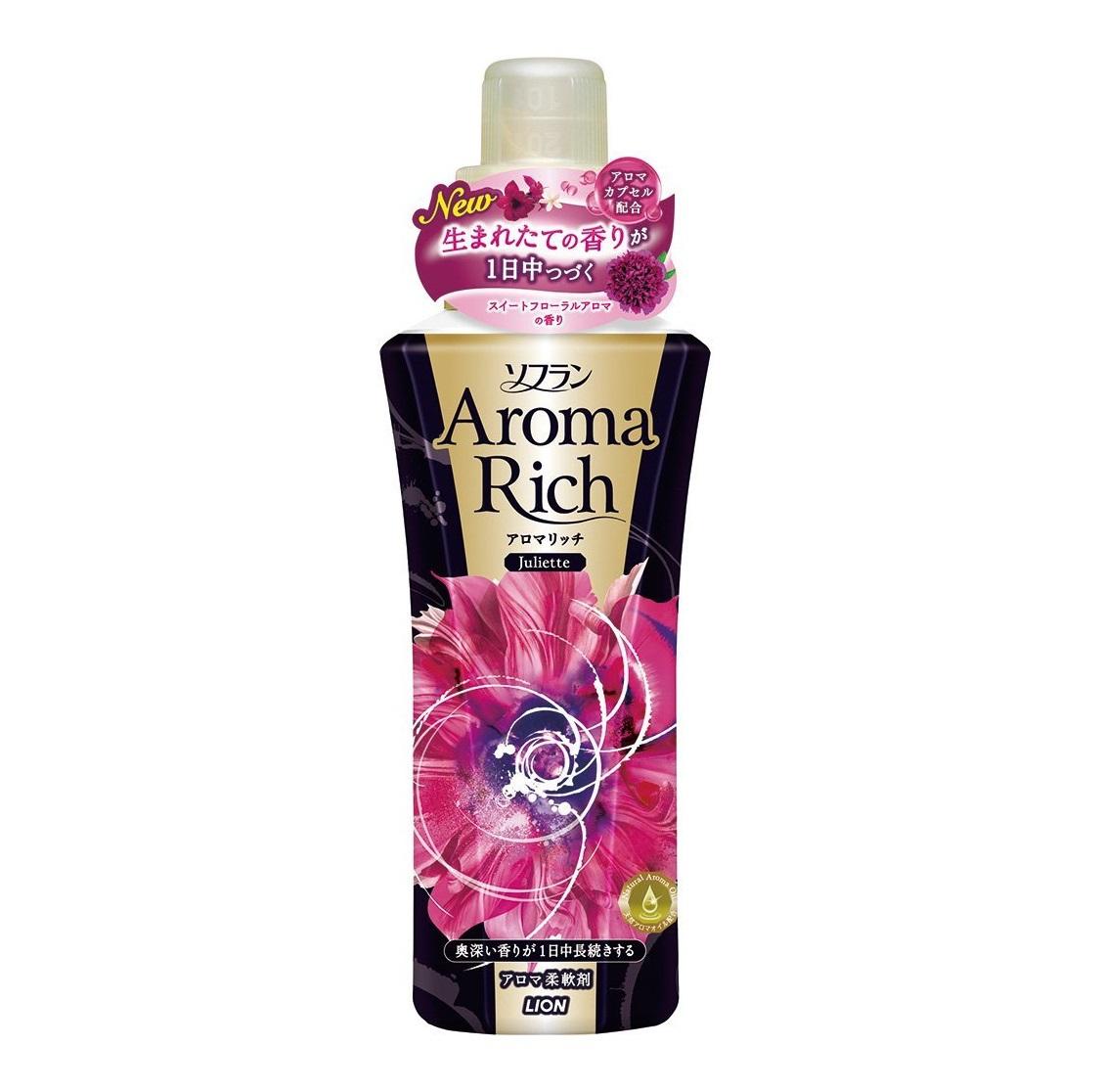 Кондиционер для белья, Lion, Soflan Aroma Rich Juliette, с натуральными ароматическими маслами, 600 мл