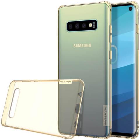 Силиконовый бампер Nillkin Nature TPU Case для Samsung Galaxy S10 (золотистый)