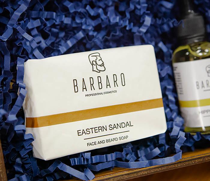Мужской набор Barbaro «Hippies Lemon»: масло и мыло для лица и бороды фото 02