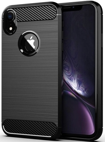 Чехол iPhone XR цвет Black (черный), серия Carbon, Caseport